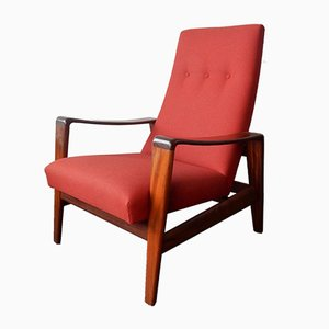 Mid-Century Danish Highback Lounge Chair by Arne Wahl Iversen for Komfort, 1960s