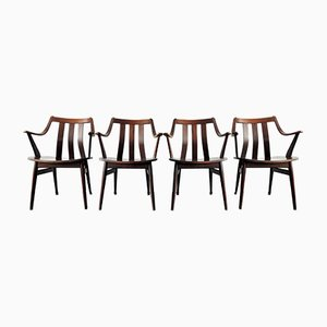 Dutch Rosewood Dining Armchairs, 1960s, Set of 4