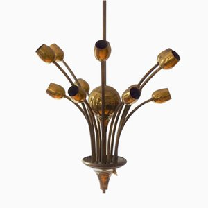 Austrian Werkbund Style Ceiling Lamp, 1930s
