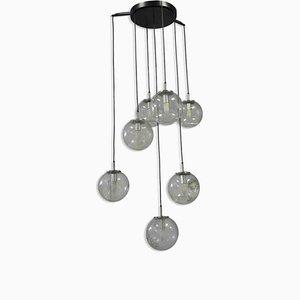 Mid-Century Glas Deckenlampe von Limburg