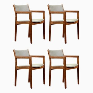 Dänische Teak Carver Stühle von D-Scan, 1960er, 4er Set