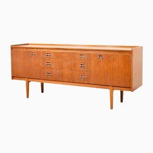 Danish Style Teak & Brass Sideboard from Wrighton, 1960s