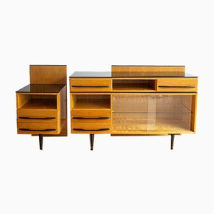 Mid-Century Modular Dresser & Cabinet by Mojmir Pozar for UP Závody, 1960s, Set of 2