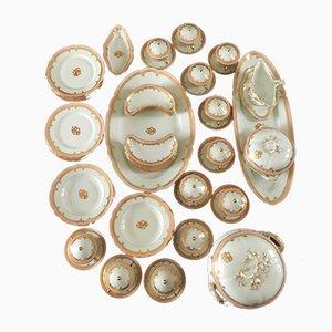 Antikes Geschirrset aus Porzellan von Vivinis Mace für Sevres, 55er Set