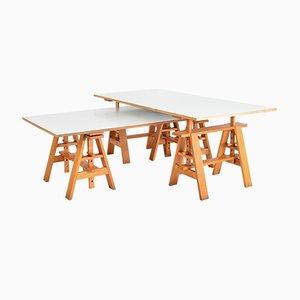 Italian Postmodernist Leonardo Worktables by Achille Castiglioni for Zanotta, 1969, Set of 2