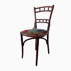 Vintage Esszimmerstuhl mit buntem Bezug von Michael Thonet