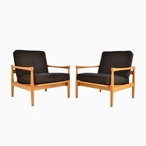 Mid-Century Swedish Oak Lounge Chairs by Erik Wørts for Bröderna Andersson, 1960s, Set of 2