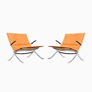 Mid-Century Armchairs by Preben Fabricius & Jørgen Kastholm for Kill International, 1960s, Set of 2