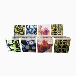 Glas Esszimmerstühle von Karim Rashid für Milan Furniture, 2008, 8er Set