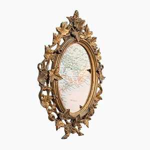 Antique English Giltwood & Glass Mirror, 1860s