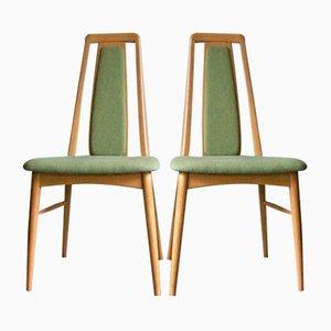 Vintage Oak Eva Side Chairs by Niels Koefoed, Set of 2