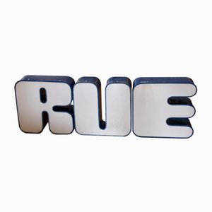 Large Illuminated Letters Spelling RUE, 1970s, Set of 3