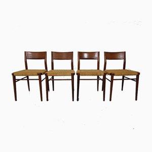 Teak Beistellstühle von Georg Leowald für Wilkhahn, 1960er, 4er Set