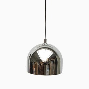 Mid-Century Space Age German Model 5561 Chrome Pendant Lamp from Staff, 1970s