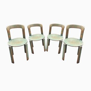 Vintage Swiss Dining Chairs by Bruno Rey for Dietiker, Set of 4