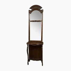 Large Napoleon III Walnut Console Table, 1850