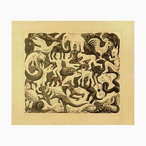 Lithographie Maurits Cornelis Escher - Mosaic II - 1957