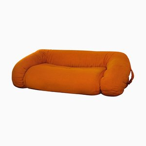 Amphibian Orange Sofa by Alessandro Becchi, 1970s