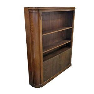Vintage Wooden Art Nouveau Bookcase