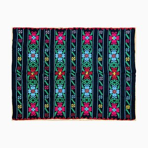 Romanian Vintage Floral Carpet