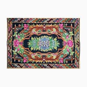 Vintage Romanian Wool Handwoven Rug