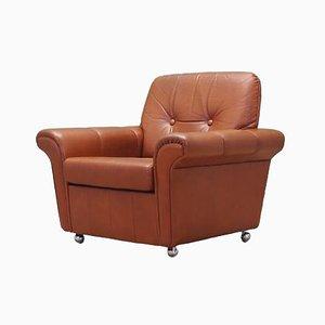 Danish Leather Armchair, 1960s