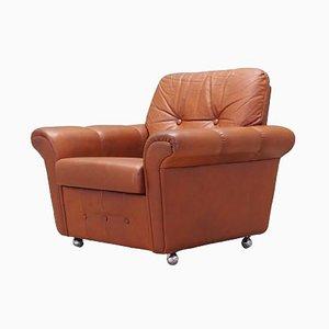 Danish Leather Armchair, 1970s