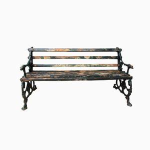 English Cast Iron Garden Bench, 1850s