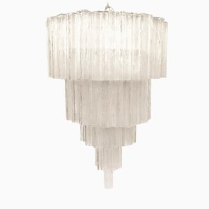 Large Tronchi Chandelier by Toni Zuccheri for Venini, 1960