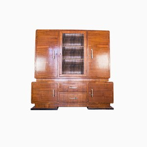 Vintage Ministerial Wood Cabinet, 1950s