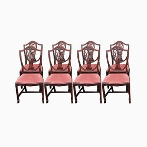 Prince of Wales Dining Chairs with Pop Out Seats, 1960s, Set of 8