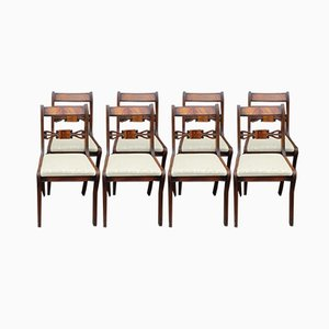 Mahogany Bar Back Dining Chairs with Pop Out Seats, 1960s, Set of 8