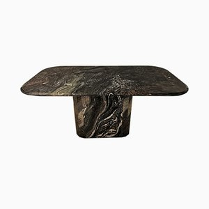 Vintage Marble Dining Table by Willy Rizzo for Roche Bobois, 1970s