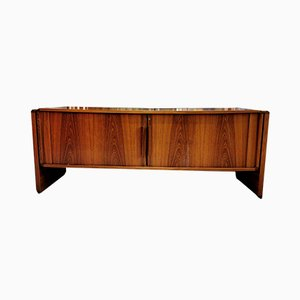 Vintage Rosewood Sideboard with Sliding Doors, 1970s