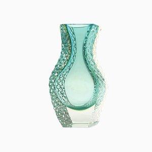Green and Yellow Murano Glass Vase, 1960s