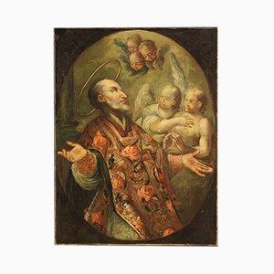 Antique Religious Painting Saint, 18th Century
