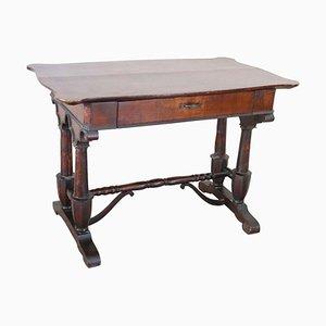 Antique Carved Walnut Desk, 1850s