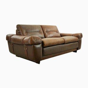Mid-Century Bown Leather Sofa