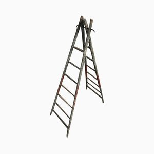 Wooden Folding Ladder, 1920s