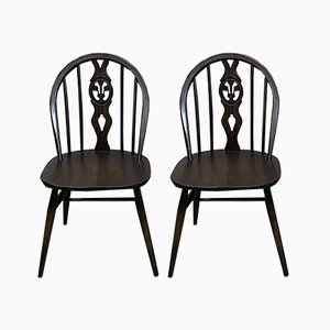 Beech Dining Chairs from Ercol, 1970s, Set of 2