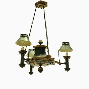 Antique French Toleware Chandelier