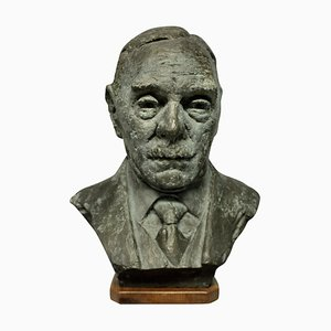 A Bronze Bust in the Manner of Jacob Epstein