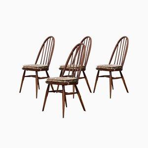Chaises Windsor en Orme par Lucian Ercolani pour Ercol, 1960s, Set de 4