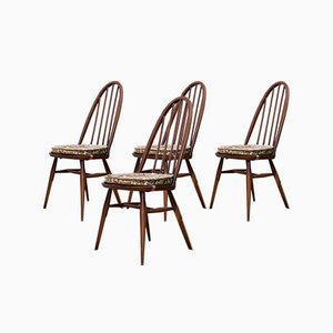 Elm Windsor Chairs by Lucian Ercolani for Ercol, 1960s, Set of 4