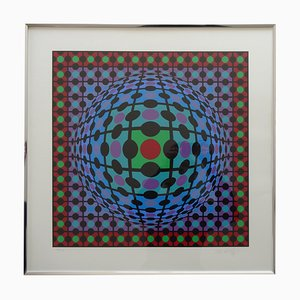 Serigraph by Victor Vasarely, 1970s