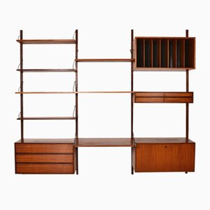 Mid-Century Danish Teak 15-Piece Modular Royal Wall Unit by Poul Cadovius for Cadovius, Set of 15
