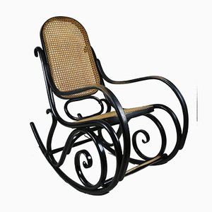 Vintage Black Rocking Chair by Michael Thonet