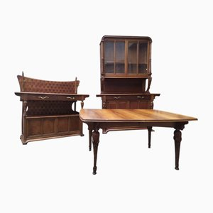 Dining Room Set by Louis Majorelle, 1920s, Set of 3