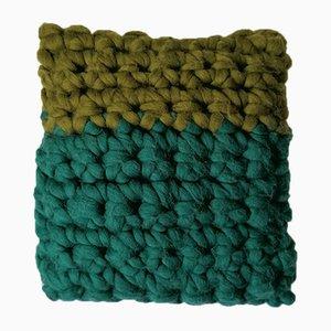 Green Chunky Textures Pillow from Com Raiz