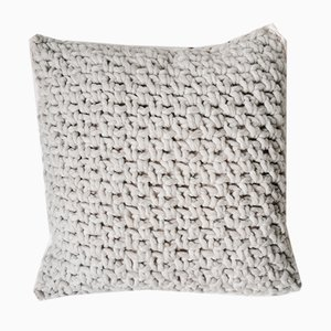 Soft Grey Textures Pillow from Com Raiz